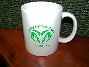 Home of the Rams White Coffee Cup